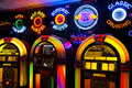 Music jukebox lights Royalty Free Stock Image