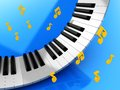 Music keys and notes Royalty Free Stock Photo