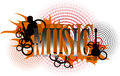 Music logo this is a author work of interpreted in eps format Royalty Free Stock Photos