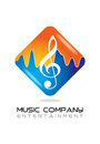 Music logo design best for company Royalty Free Stock Photo