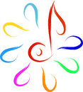 Music logo symbol abstract sketch Stock Photo