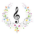 Music logo - treble clef Royalty Free Stock Photos