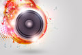 Music Loud Speaker Funky Background Royalty Free Stock Photos