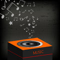 Music loudspeaker illustration with musical notes Stock Image