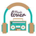 Music lover concept vector illustration Royalty Free Stock Photos