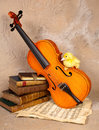 Music loving duckling Royalty Free Stock Photography