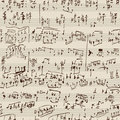 Music manuscript Royalty Free Stock Photo