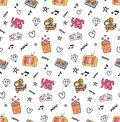 Music and movie seamless pattern