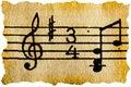 Music notation key
