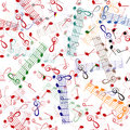 Music notation repeating pattern Stock Photo