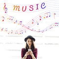 Music Note Art of Sound Instrumental Concept Royalty Free Stock Photo