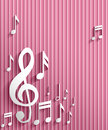 Music note background abstract illustration Royalty Free Stock Image