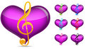 Music note with heart Royalty Free Stock Photo
