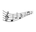 music note isolated icon Royalty Free Stock Photo