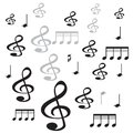 Music note ith white background