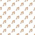 Music note pattern seamless