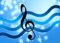 Music note silky Στοκ φωτογραφία με δικαίωμα ελεύθερης χρήσης