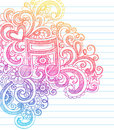 Music Note Sketchy Back to School Doodle Vector Stock Images