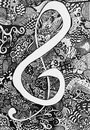 Music Note Zen Tangle