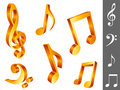 Music notes. Royalty Free Stock Image