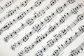 Music notes background Stock Photography