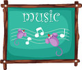 Music notes on blackboard vector Stock Photo