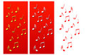 Music Notes Christmas Compositions Royalty Free Stock Image
