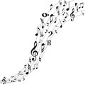 Music notes a creative design of isolated in white Royalty Free Stock Images