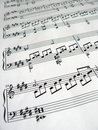 Music notes detail Royalty Free Stock Photo