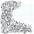 Music Notes And G Clef Sketchy...
