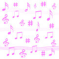 Music notes gift wrap Stock Photos
