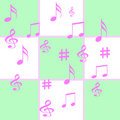 Music notes gift wrap Stock Images