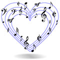 Music notes heart