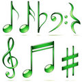 Music notes icons Royalty Free Stock Photography