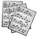 Music Notes on Paper Clipart Stock Photography