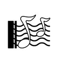 Music notes pattern icon