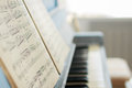 The music notes on the piano Royalty Free Stock Photo