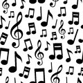 Music Notes Seamless Pattern Royalty Free Stock Photo