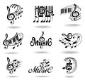 Music notes. Set of music design elements or icons Royalty Free Stock Photography