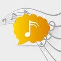 Music notes sound art