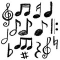 Music notes. Vector illustration Royalty Free Stock Photo