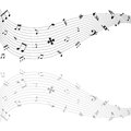Music notes vector illustration of with its shadow on a white background Royalty Free Stock Photos
