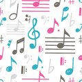 Music Notes Vector Seamless Pattern