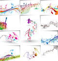 Music notes wave line design for use vector illustration Stock Photography