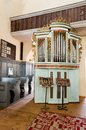 Music organ in cisnadie church romania fortified transylvania with medieval tower architecture Stock Photo