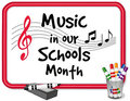 Music in Our Schools Month Whiteboard Stock Images