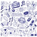 Music party doodles this is file of eps format Stock Images