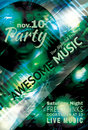 Music party flyer template Royalty Free Stock Images