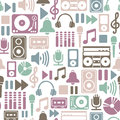 Music pattern Stock Image