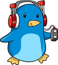 Music Penguin Vector Illustration Royalty Free Stock Photo